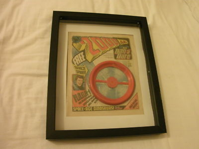 2000 ad number 1, in box frame,