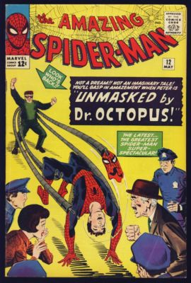 AMAZING SPIDERMAN #12 FINE- 1964 FAB EYE APPEAL SUPERB COLORS VAL $223