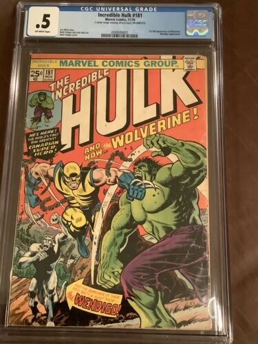 The Incredible Hulk #181 CGC 0.5 1st Appearance Of Wolverine