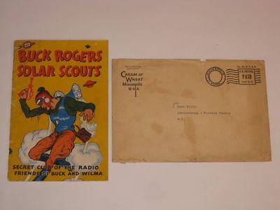 Buck Rogers Solar Scouts Cream of Wheat Premium 1936 + Mailer