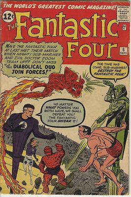 Marvel Silver Age FANTASTIC FOUR #6 1st Appearance Yancy Street Gang