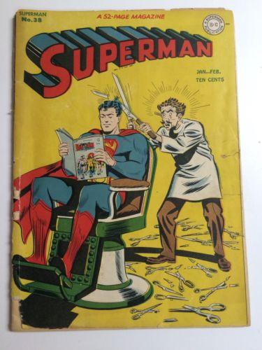 Superman 38 Golden Age DC Comic Classic Cover Rare! 1946