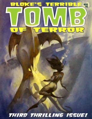 Mike Hoffman Oil TOMB Mag #3 Cover Art ~VAMPIRE SQUID~!
