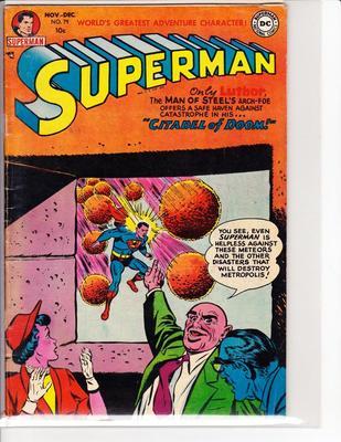 ORIGINAL DC COMICS SUPERMAN #79 1947 SIEGAL & SHUSTER A GOLDEN AGE CLASSIC