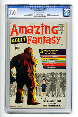 Amazing Adult Fantasy #7 CGC 7.0 OW/W 1st Issue Marvel Silver Age Comic Horror