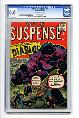 Tales of Suspense #9 CGC 6.0 OW/W Kirby Ayers Atlas Silver Age Comic Horror