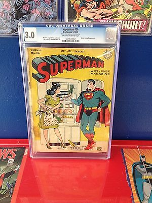 """Superman #36 (1945) CGC 3.0 """"Mister Mxyztplk appearance"""" Off-White to White pges"""