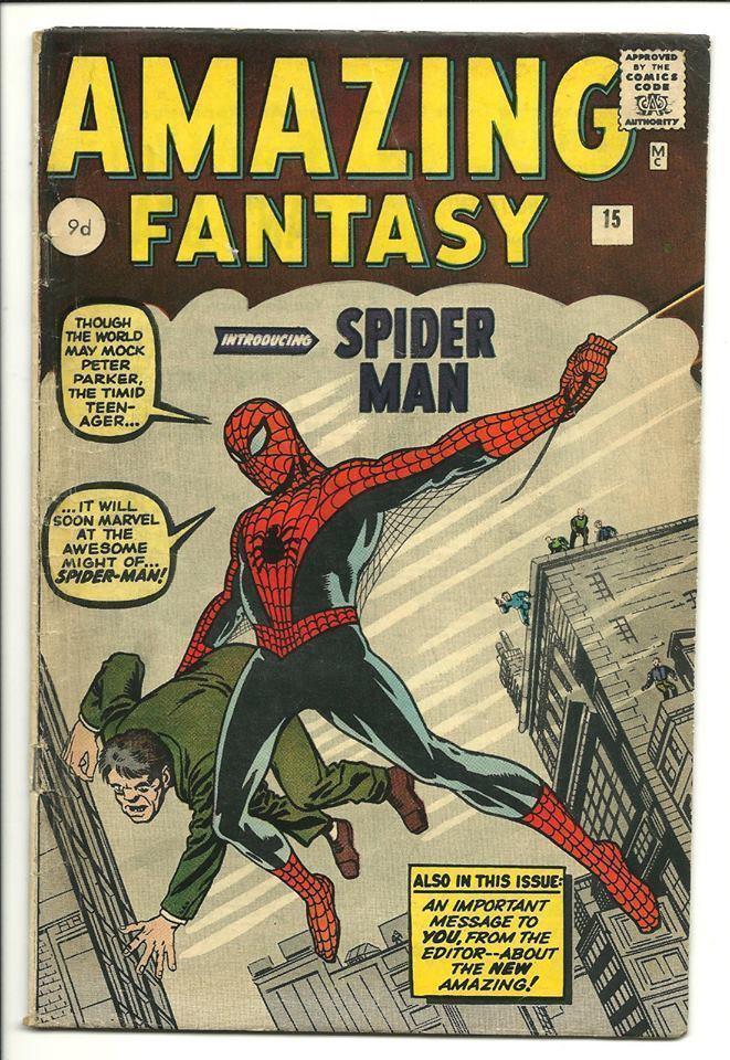 Amazing Fantasy #15 UK SILVER AGE 1st  Apperance Spiderman 4.5 ?