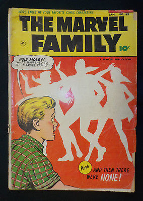 The Marvel Family #89 ! FAWCETT 1954 ! SUPER-SCARCE FINAL ISSUE ! hayfamzone