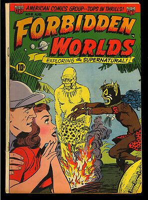 Forbidden Worlds #8 Nice Pre-Code Golden Age ACG Horror Comic 1952 VG-FN