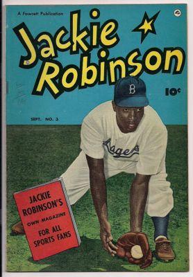 JACKIE ROBINSON 3! HIGH GRADE GOLDEN AGE FAWCETT! PHOTO