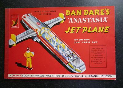 "***Rare*** Dan Dare 'Anastasia' Jet Plane 18¼"" Presso Book Frank Hampson"