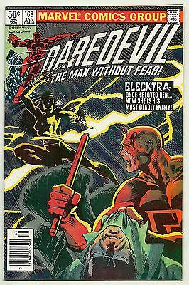 Daredevil #168 Bronze-Age Marvel Comics 1981 Key 1st Elektra Frank Miller VF-