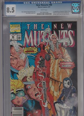 The New Mutants Comic Book #98 CGC graded 8.5 White pages
