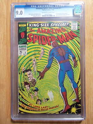 Amazing Spider Man King Size Special #5 CGC 9.0