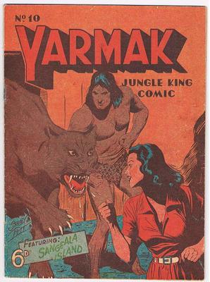 Australian YARMAK JUNGLE KING COMIC No.10 ( GOOD ) 1950's Stanley Pitt