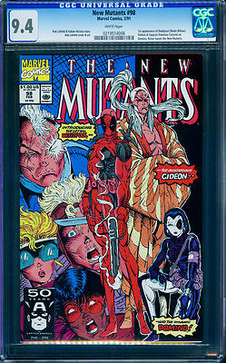 The New Mutants 98 CGC 9.4 NM WHITE 1st Appearance of Deadpool