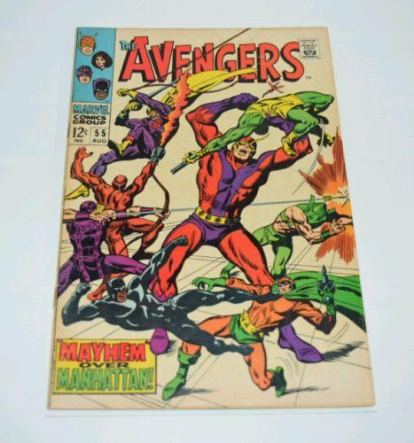 Avengers Vol 1 #55 1st Appearance of Ultron 1968 Marvel