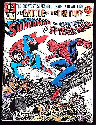 SUPERMAN VS SPIDER-MAN  FN/VF 1976 MARVEL & DC TREASURY EDITION