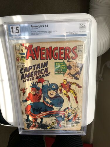 Avengers #4!!! 1st Silver Age App. Of Captain America!!! PGX 1.5!!! White Pages!