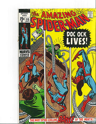 THE AMAZING SPIDER-MAN #89, VF+, UNCERTIFIED