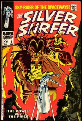 SILVER SURFER #3 1968 VERY FINE+ 8.5 Sharp Copy 1st App Mephisto!
