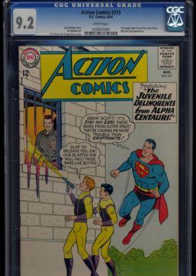 Action Comics #315 1964 CGC NM- 9.2 WHITE Pages Superman DC Comics