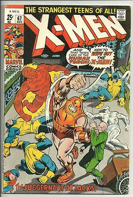 Uncanny X-Men #67 Fine 7.5 Marvel Bronze Age Comic 1970
