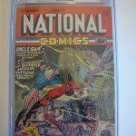 NATIONAL COMICS # 7 1941 GOLDEN AGE CGC RESTORED GRADE 7.5 SLABBED