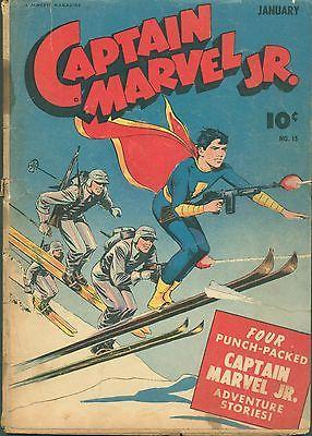 CAPTAIN MARVEL JR 15- vs. Captain Nazi!