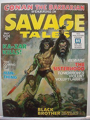 SAVAGE TALES Conan The Barbarian #1 (1971 Series) May 1971 Barry Smith