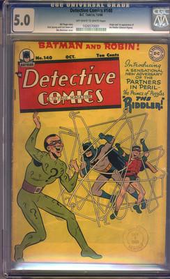 Detective Comics #140 CGC 5.0 VG/FN Universal
