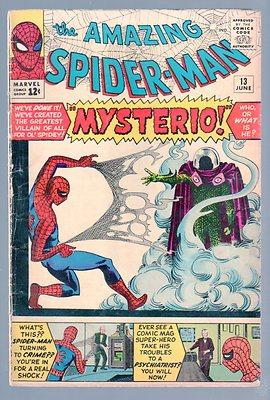AMAZING SPIDER-MAN #13 VERY GOOD- 1st MYSTERIO 1964