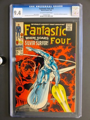 Fantastic Four #72 MARVEL 1968 CGC 9.4 NM – Silver Surfer cover/story – Pre #1!