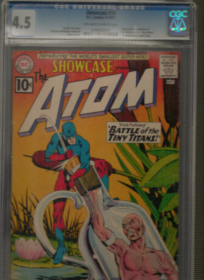 Showcase #34 – 1st Atom!! Silver Age Key -CGC 4.5- Kane