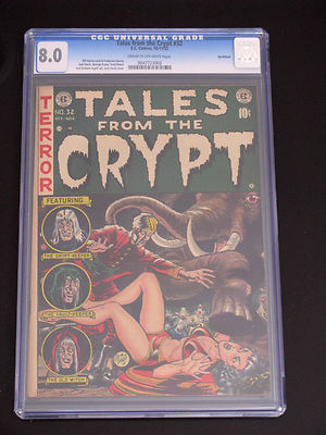 TALES FROM THE CRYPT #32 EC HORROR 8,0 CGC GRADED RARE MUST SEE