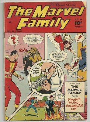 The MARVEL Family #38 Fawcett 10c Golden Age Comic 5.0 (1949)