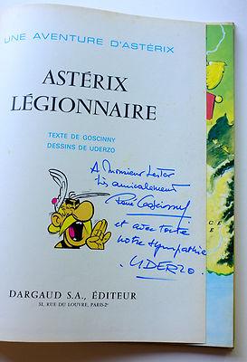 Asterix Legionnaire Hard Book SIGNED by Goscinny & Uderzo French Français 1967
