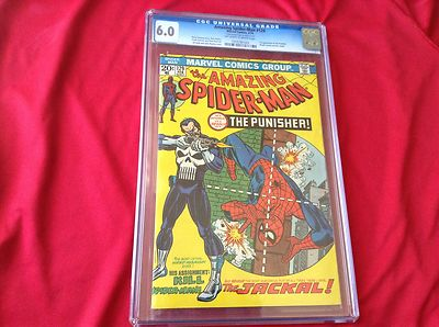 Amazing spiderman 129 cgc 6.0, Punisher, 1st appearance comics, Stan Lee, 1974