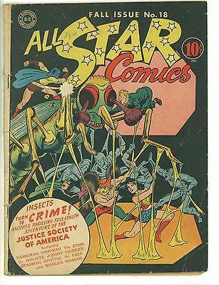 All-Star Comics #18 (Fall 1943, DC) Apparent 4.0 Amateur Restorations