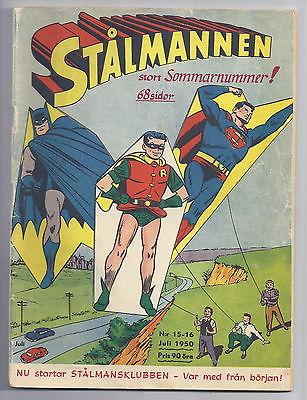 WORLD'S FINEST #46 *SCANDINAVIAN VARIANT* Batman&Superman story! DC COMIC 1950