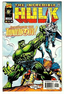 INCREDIBLE HULK #449 (VF/NM) 1st Appearance of THE THUNDERBOLTS! Marvel 1997