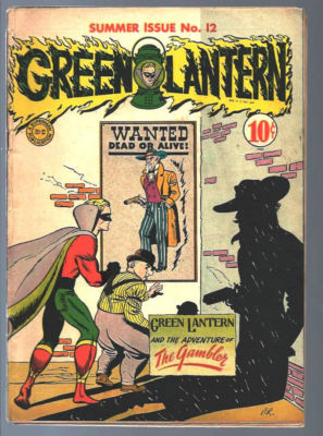 GREEN LANTERN COMICS 12 RARE WW2 GOLDEN AGE DC COMIC BOOK NO RESERVE