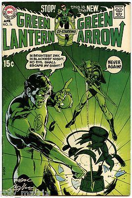 GREEN LANTERN #76 VG+ DC BRONZE KEY SIGNED BY NEAL ADAMS!