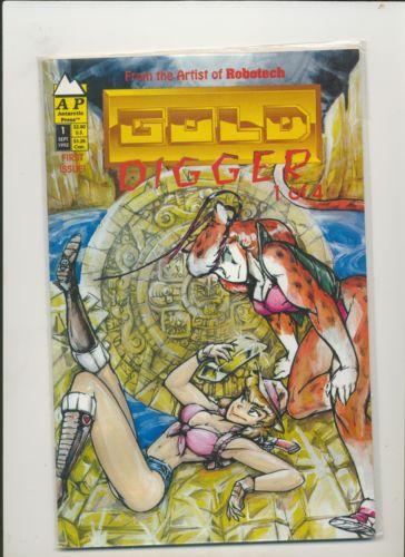 GOLD DIGGER #1 VF+/NM- 1992 FRED PERRY ANTARCTIC PRESS Mykiki