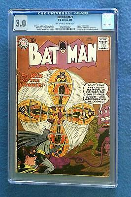 BATMAN #129 CGC 3.0 BATMAN ROBIN BATWOMAN DC COMICS SILVER AGE 1960