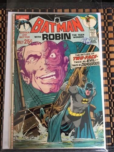 Batman No 234 #234 2 Faces Silver Age