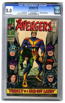 AVENGERS #30, July 1966, CGC 8.0, Swordsman, Black Widow, and Power Man App