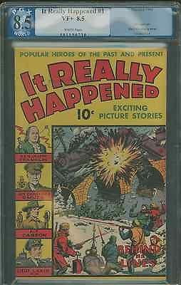 1944 It really happened #1 8.5 graded pgx. Alex Schomburg art
