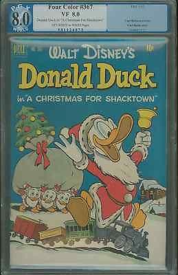 Four Color #367 8.0 graded PGX Carl Barks, Donald Duck A Christmas for Shacktown